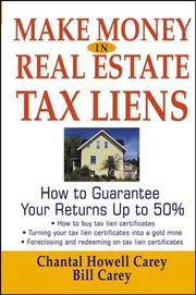 Cover of: Make Money in Real Estate Tax Liens
