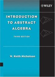 Cover of: Introduction to abstract algebra