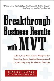 Cover of: Breakthrough Business Results With MVT
