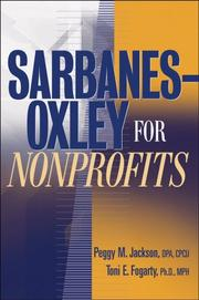 Cover of: Sarbanes-Oxley for Nonprofits