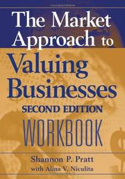 Cover of: The Market Approach to Valuing Businesses Workbook