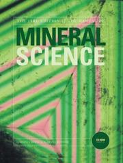 Cover of: Manual of Mineral Science (Manual of Mineralogy)