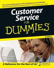 Cover of: Customer Service For Dummies (For Dummies (Business & Personal Finance))