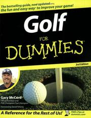 Cover of: Golf For Dummies (Golf for Dummies)