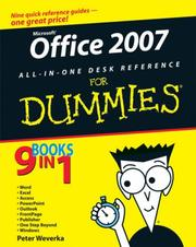 Cover of: Office 2007 All-in-One Desk Reference For Dummies (For Dummies (Computer/Tech))