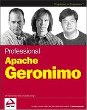 Cover of: Professional Apache Geronimo (Wrox Professional Guides)