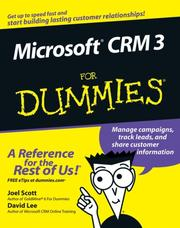 Cover of: Microsoft CRM 3 For Dummies (For Dummies (Computer/Tech))
