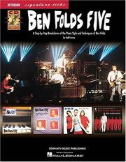 Cover of: Ben Folds Five - Keyboard Signature Licks