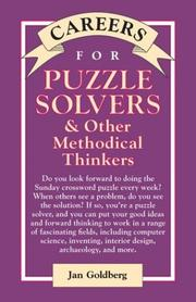 Cover of: Careers for puzzle solvers & other methodical thinkers