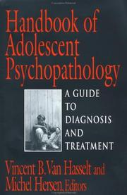 Cover of: Handbook of Adolescent Psychopathology (Series in Scientific Foundations of Clinical and Counseling Psychology)