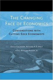 Cover of: The Changing Face of Economics
