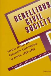 Cover of: Rebellious Civil Society