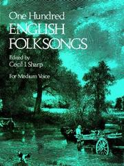 Cover of: One Hundred English Folksongs (For Medium Voice)
