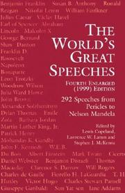 Cover of: The World's Great Speeches (Fourth Enlarged Edition)
