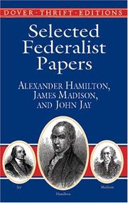 Cover of: Selected Federalist Papers (Dover Thrift Editions)