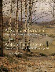 Cover of: Scriabin's Piano Concerto in F-Sharp Minor, Op. 20, and Rubinstein's Piano Conce