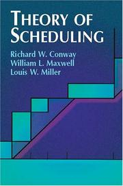 Cover of: Theory of Scheduling