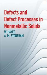 Cover of: Defects and Defect Processes in Nonmetallic Solids