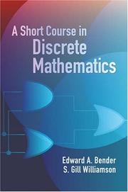 Cover of: A Short Course in Discrete Mathematics