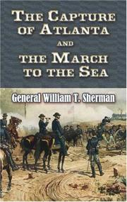 Cover of: The Capture of Atlanta and the March to the Sea: From Sherman's Memoirs (Dover Books on Americana)