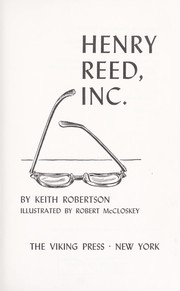 Cover of: Henry Reed, Inc