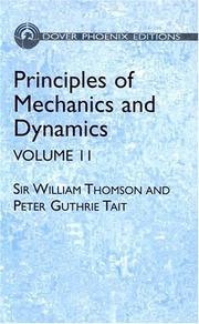 Cover of: Principles of Mechanics and Dynamics, Vol. 2