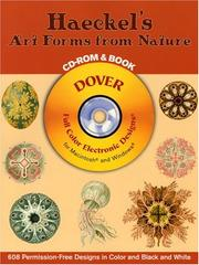 Cover of: Haeckel's Art Forms from Nature CD-ROM and Book
