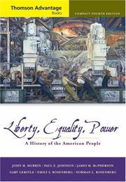 Cover of: Thomson Advantage Books: Liberty, Equality, Power