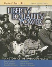 Cover of: Liberty, Equality, Power: A History of the American People, Vol. II