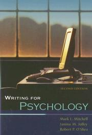 Cover of: Writing for Psychology (with InfoTrac )