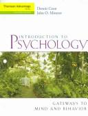 Cover of: Thomson Advantage Books: Introduction to Psychology
