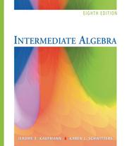 Cover of: Intermediate Algebra (with Interactive Video Skillbuilder CD-ROM and iLrn Student Tutorial Printed Access Card)