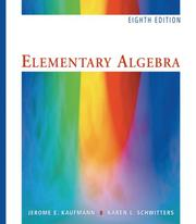Cover of: Elementary Algebra (with CD-ROM and iLrn Student Tutorial Printed Access Card)
