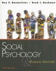 Cover of: Social Psychology and Human Nature, Brief Version