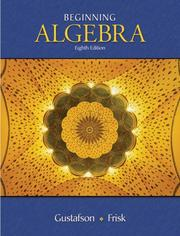 Cover of: Beginning Algebra (with ThomsonNOW, Personal Tutor with SMARTHINKING Printed Access Card)
