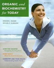 Cover of: Organic and Biochemistry for Today