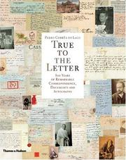 Cover of: True to the Letter