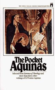 Cover of: The pocket Aquinas: selections from the writings of St. Thomas