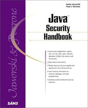 Cover of: Java Security Handbook