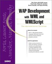 Cover of: WAP Development with WML and WMLScript (With CD-ROM)