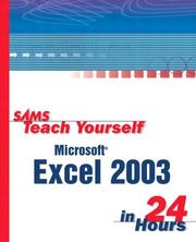 Cover of: Sams Teach Yourself Excel 2003 in 24 Hours