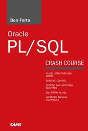 Cover of: Oracle PL/SQL Crash Course