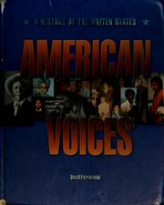 Cover of: American Voices a History of the United States