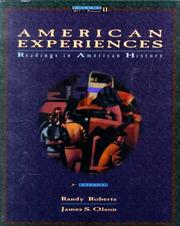 Cover of: American Experiences: 1877 To the Present
