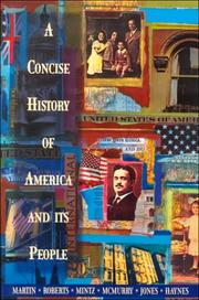 Cover of: A Concise History of America and Its People