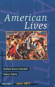 Cover of: American Lives, Volume II (American Lives)
