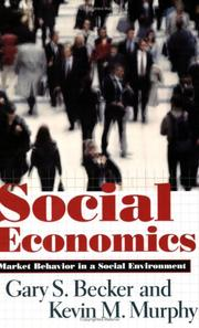 Cover of: Social Economics