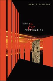 Cover of: Truth and predication