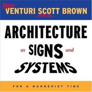 Cover of: Architecture as Signs and Systems