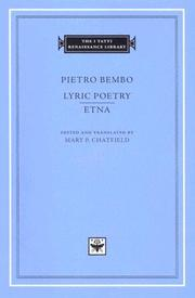 Cover of: Lyric Poetry. Etna (The I Tatti Renaissance Library)